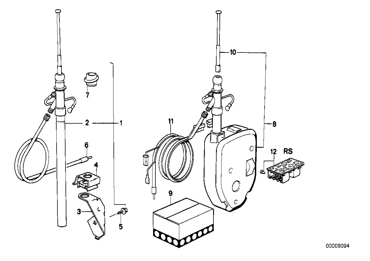 Bmw 320i Sedan E21 Antenna