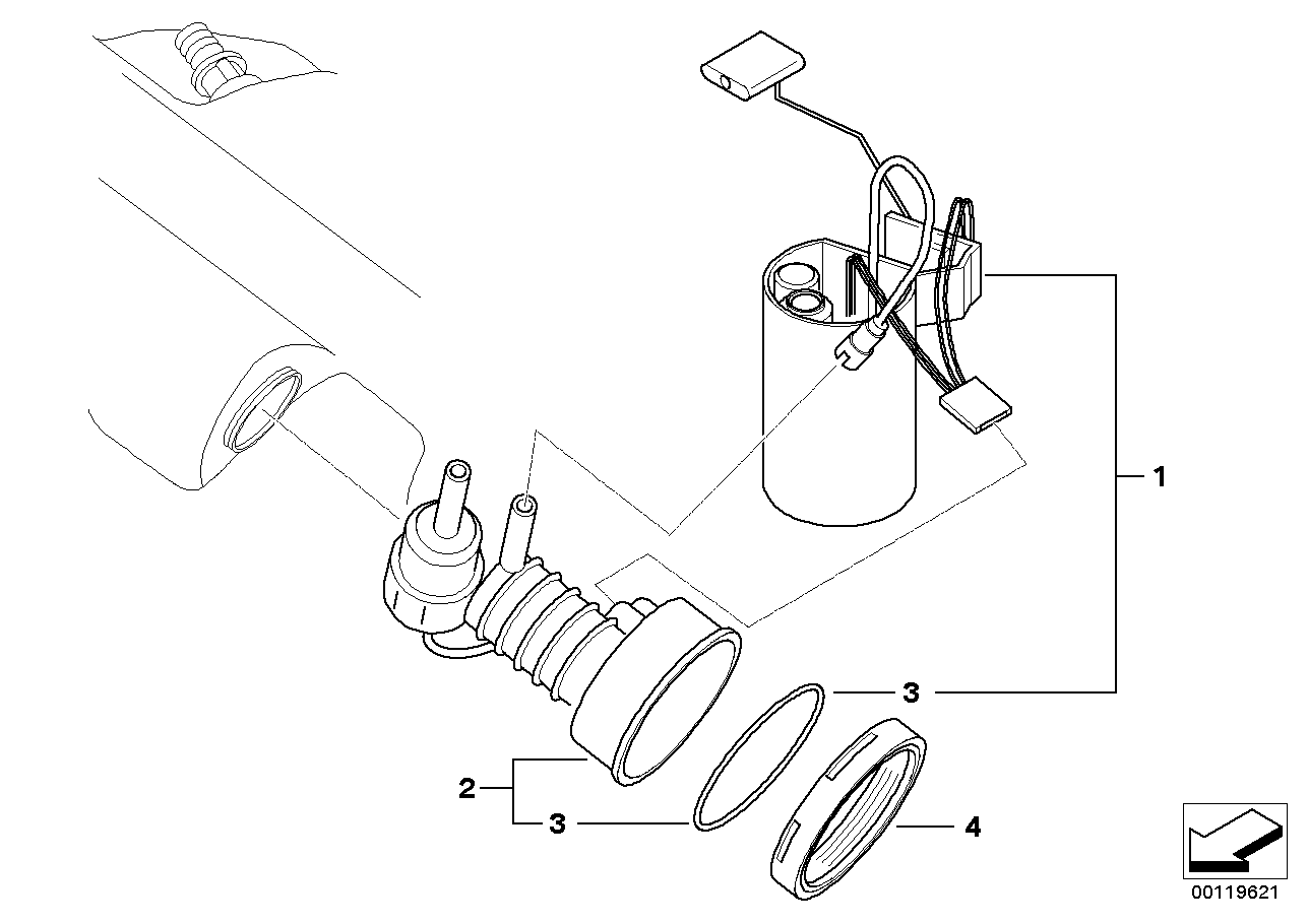 Bmw Z4 3 0i E85 Fuel Filter Pump Fuel Level Sensor