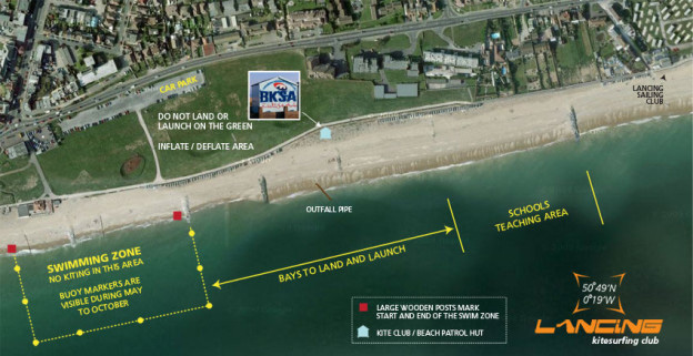Lancing Beach areas