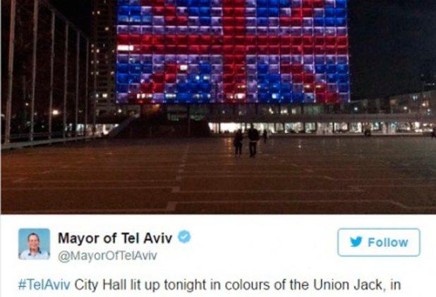 Bandeira-inglesa-em-Tel-Aviv