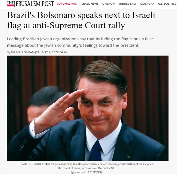 B'nai B'rith do Brasil é destaque em veículo de imprensa internacional, o Jerusalém Post.