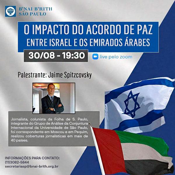 Jaime Spitzcovsky e o impacto do acordo de paz entre Israel e os Emirados Árabes