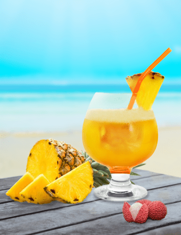 Pineapple and Litchi Melody Juices