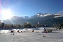 The ski run for children