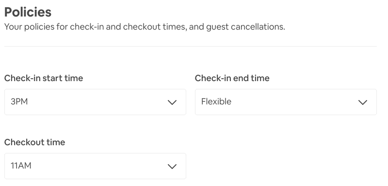 Airbnb Check-in Policy