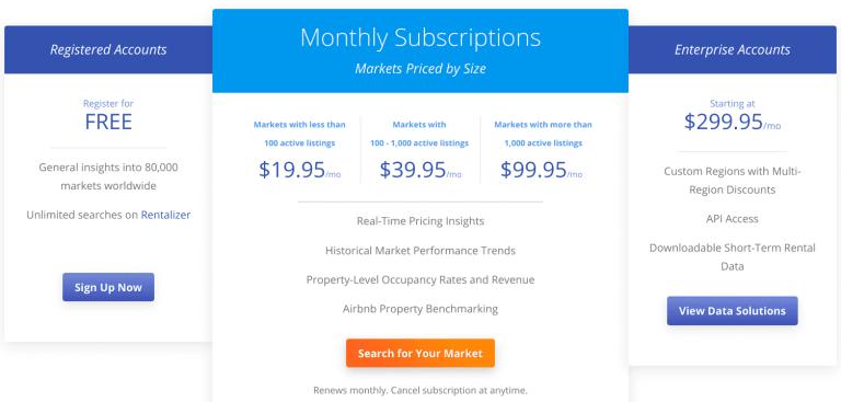 AirDNA Pricing