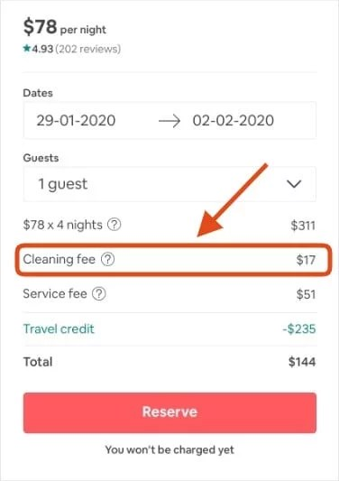 How Guests See Airbnb Cleaning Fee