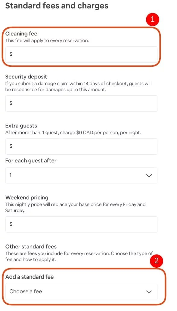 Set Your Airbnb cleaning fee