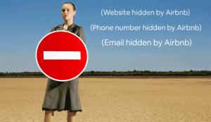 airbnb phone number hidden