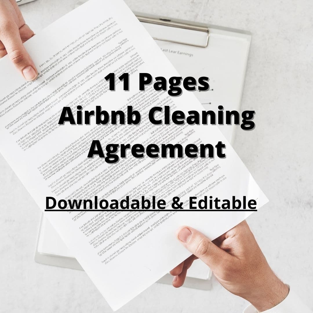 Airbnb Cleaning Contract Agreement