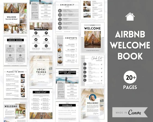 Airbnb welcome book cover page