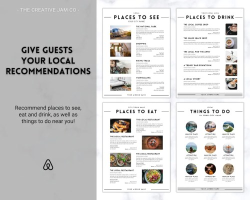 Airbnb welcome book recommendations