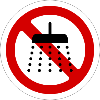 Image result for no shower clipart