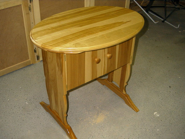 Oval Top On Cabinet