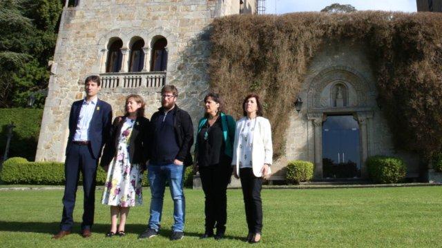 Foto visita Comisión europea Pazo de Meirás