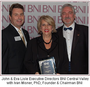 Ivan Misner is visiting BNI Central Valley March 22, 2012