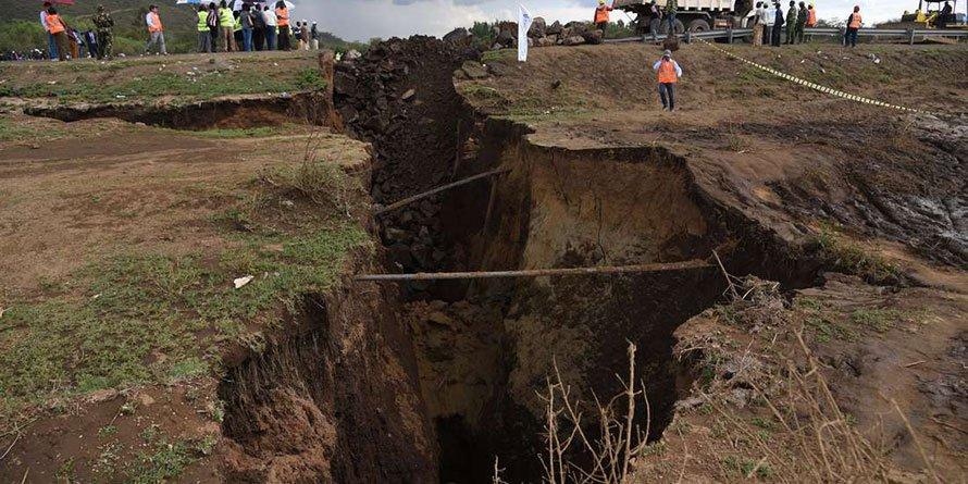 Effects of the Mai Mahiu earthquake last year