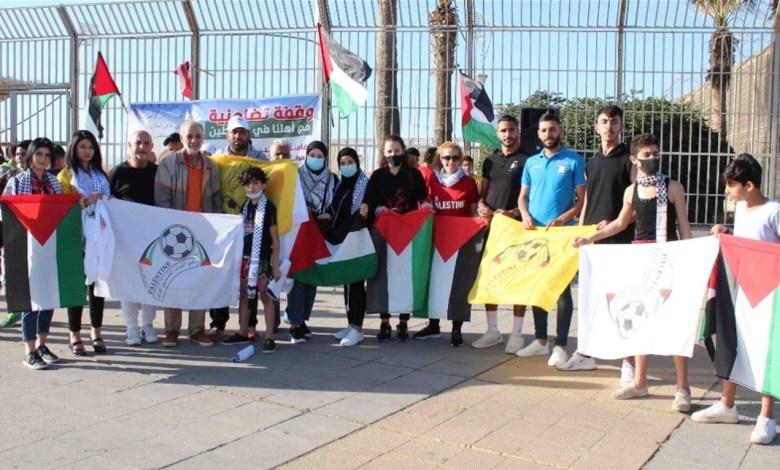 وقفة تضامنية لأندية صيدا ومخيماتها مع الشعب الفلسطيني
