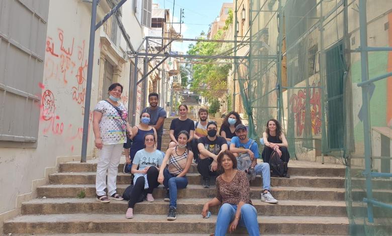 قصة صوتية لطلاب جامعة الروح القدس والمدرسة الوطنية العليا للفنون وتقنيات المسرح الفرنسية حول الدمار الذي خلّفه انفجار الرابع من آب في بيروت