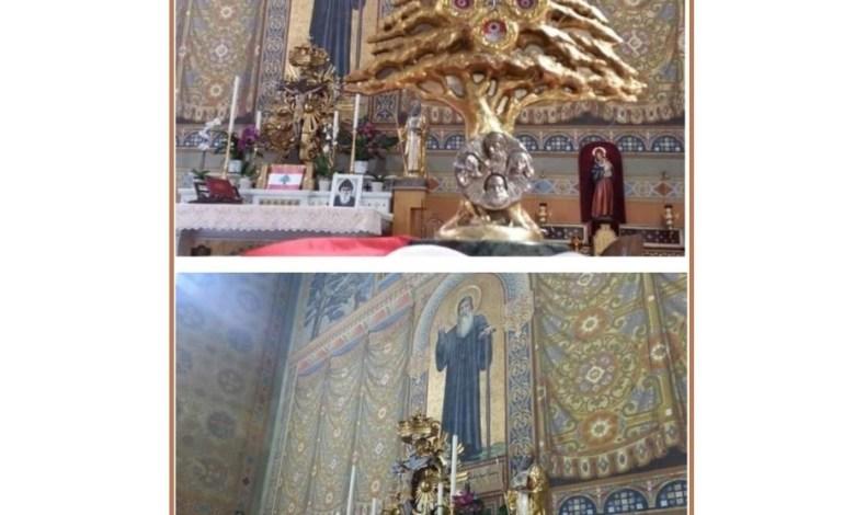 رعية مار مارون في روما احتفلت بعيد القديس شربل