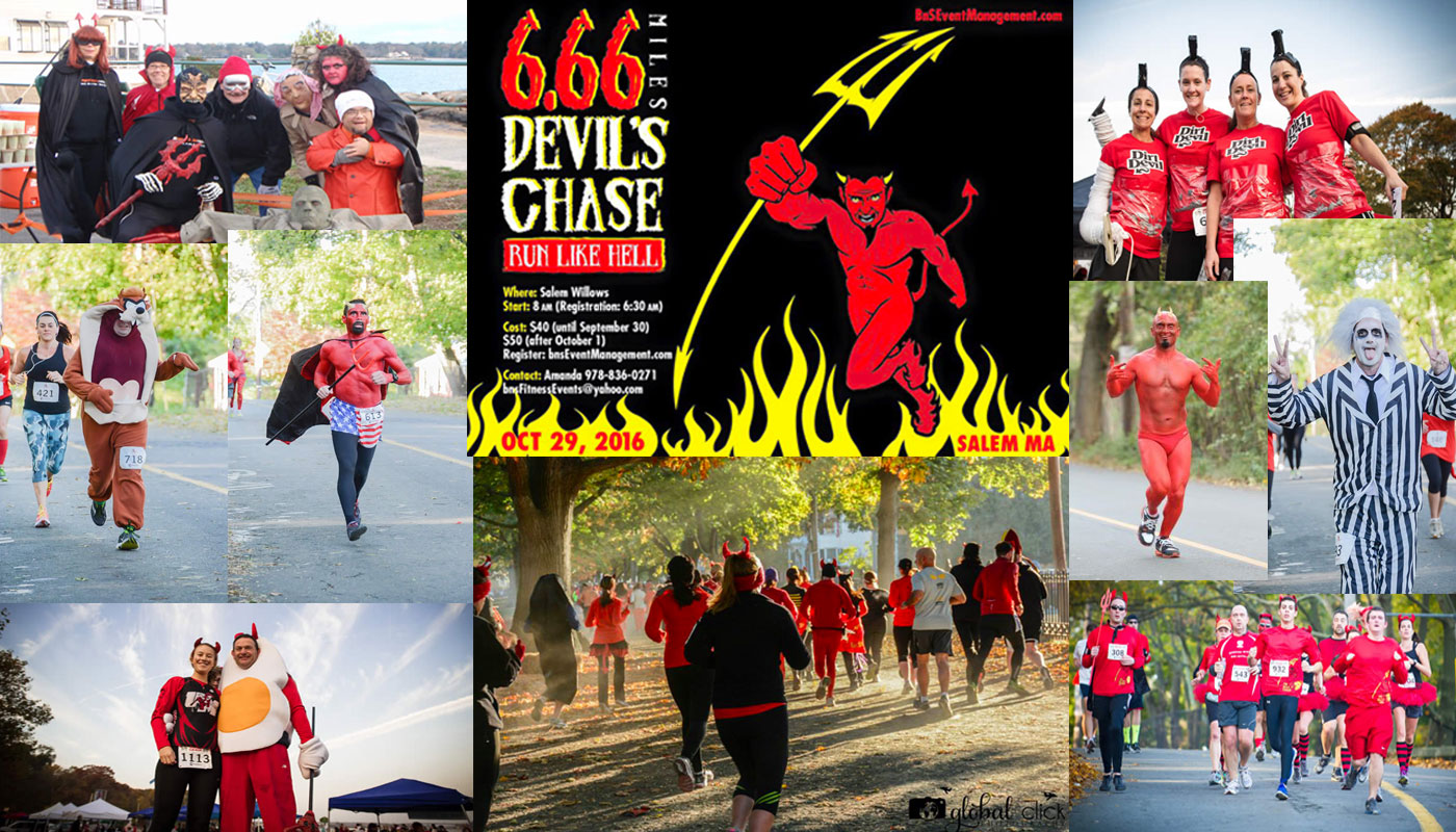Devils Chase 6.66 mile run salem ma