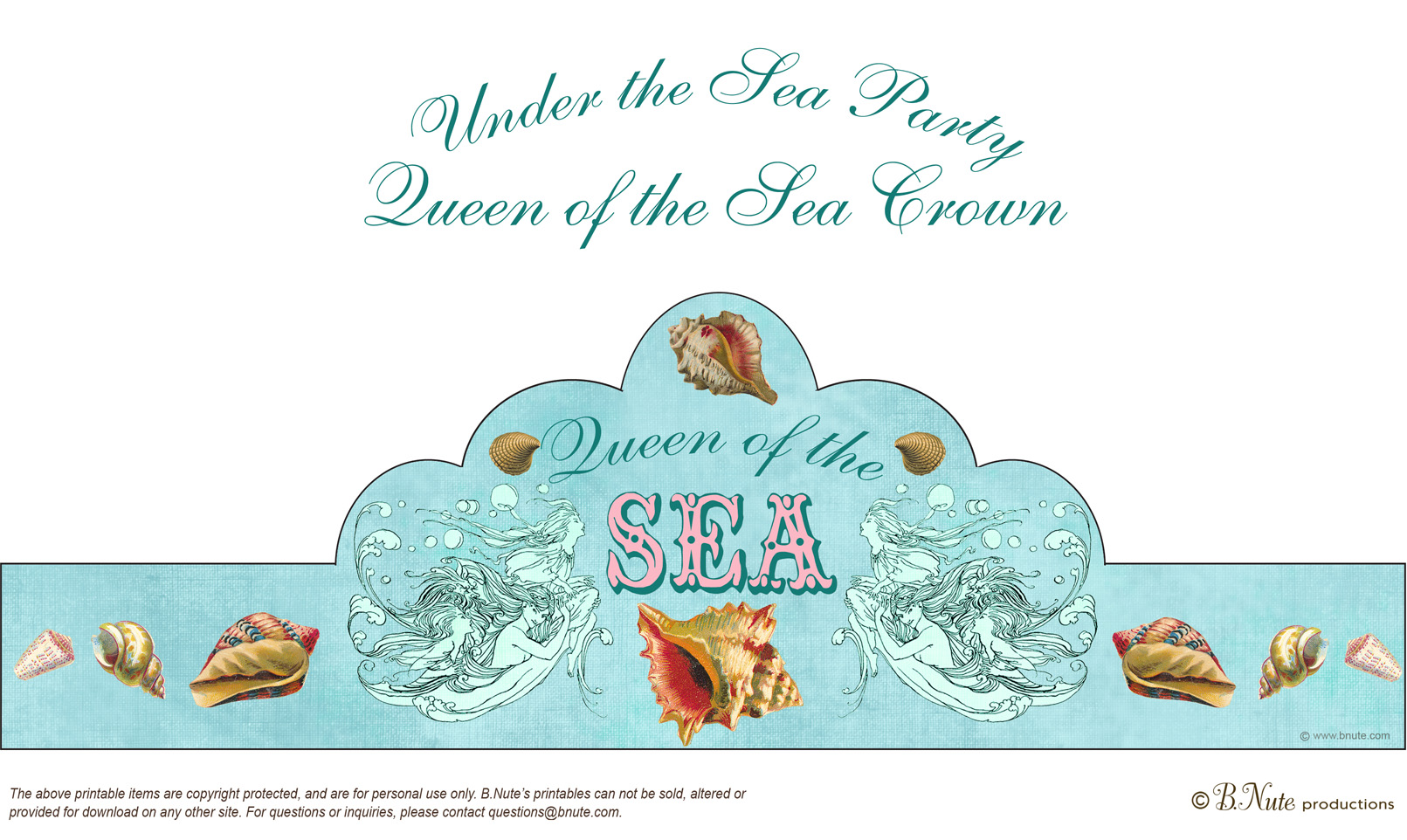 Under The Sea Party Invitations Decorations Art Activites Games And More