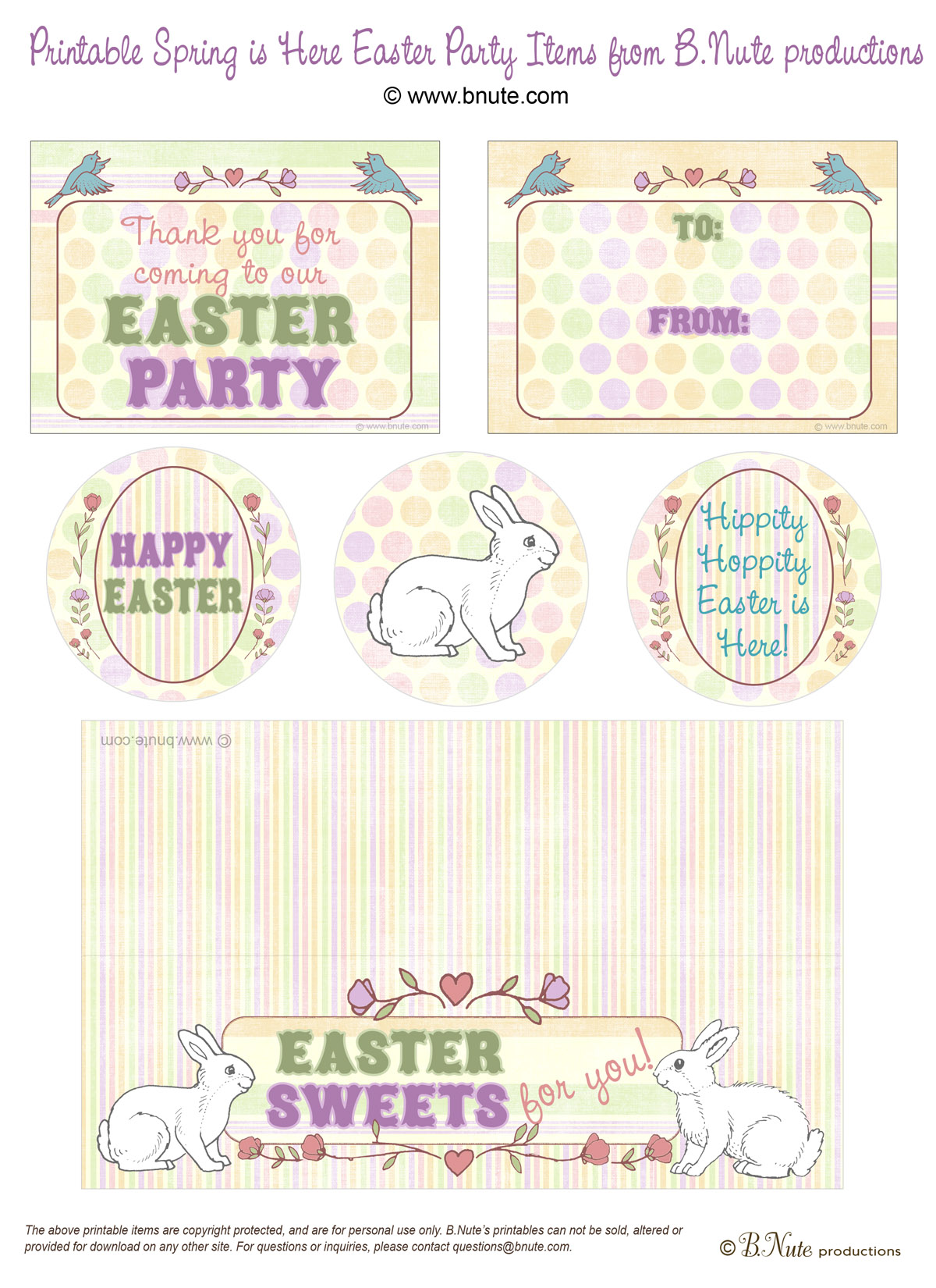 Bnute Productions Free Easter Printables Spring Is Here