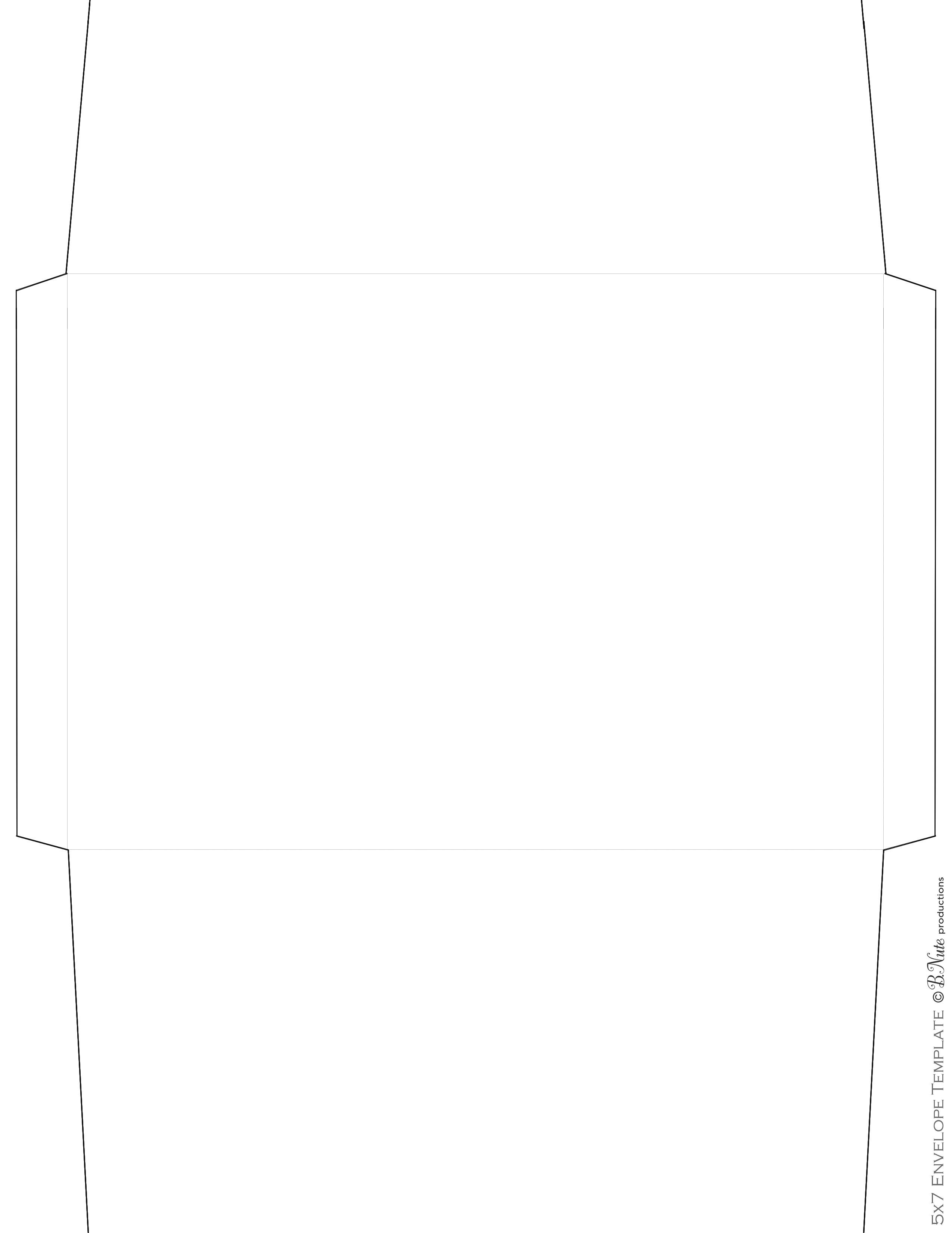 Bnute Productions Scrapbook Paper Ideas Printed Envelope Including Envelope Templates
