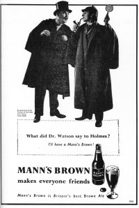 A poster for Mann's starring Sherlock Holmes