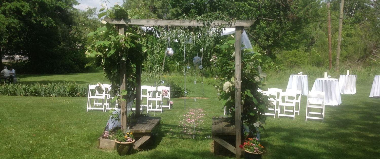 Chuppah and chairs