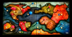 Cthulhu Wars Map for 4 players (5-3 version)
