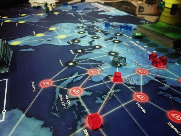 Photo of a Pandemic game.