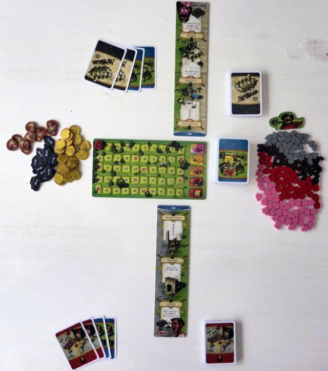 Imperial settlers - 2 players setup