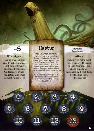Arkham Horror Promotional Ancient Ones Card 2011