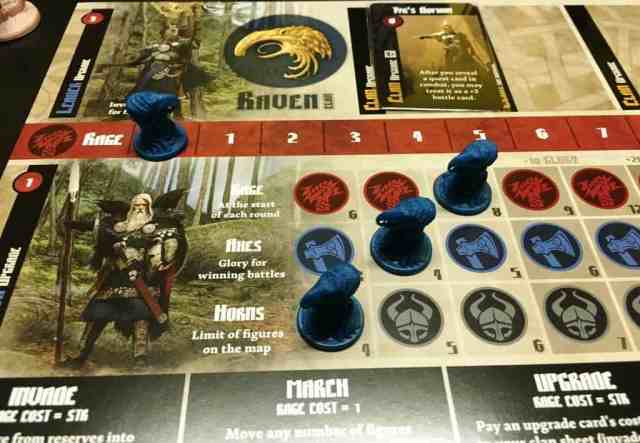 blood rage - player board