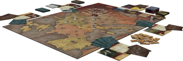 Fury of Dracula - Board game layout