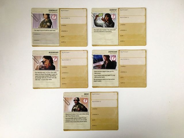 Pandemic Legacy - Character Cards