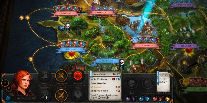 The Witcher Adventure Game iOS Review   Board Game Quest The Witcher Adventure Game iOS