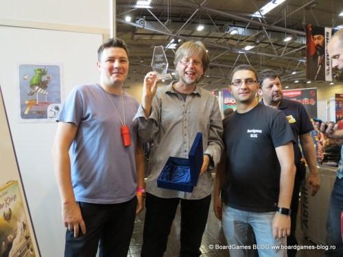 Inmanare trofeu Jocul Anului in Romania 2014-Incepatori la Spiel Essen 2015