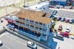 Aeriel View of New Jersey Oceanfront Hotel | Bordwalk Charlee Hotel