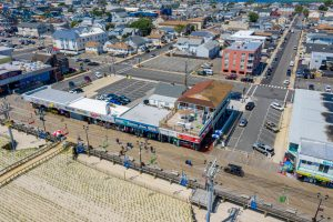 Aeriel View 3 of New Jersey Oceanfront Hotel | Bordwalk Charlee Hotel
