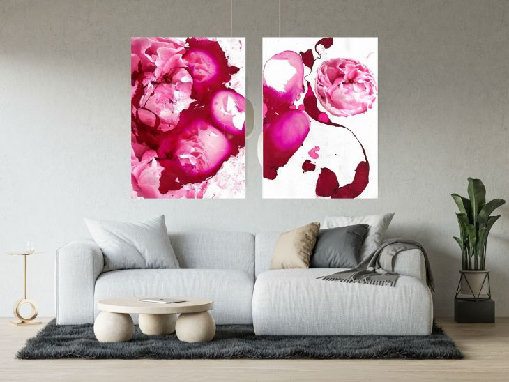 Inspiration for your white walls-marbling artwork for sale