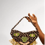 Love Purse with Raffia fringe By Pepper Row