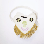 The Love Smiley Bag with Raffia fringe By Pepper Row