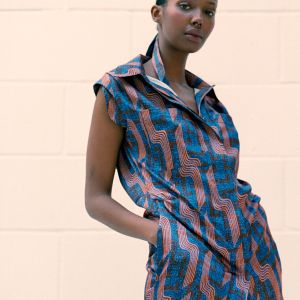 Linear Print Dress By Ankara On Brand
