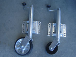 Folding Galvanised Jockey Wheels