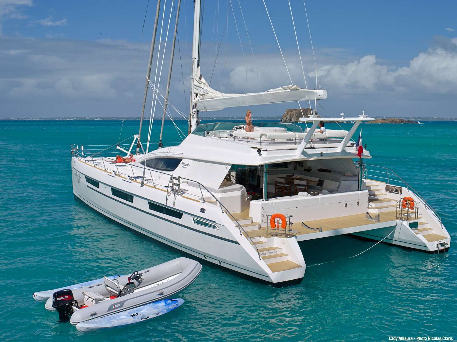 Luxury Crewed Catamaran LADY ALLIAURA Privilege 75 4