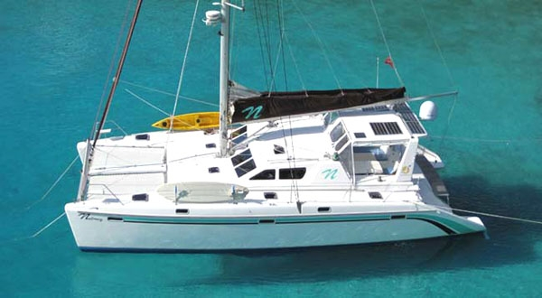 Crewed Sailing Catamaran NUTMEG St Francis 50 4 Cabins