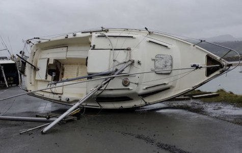 Storm Damaged Yacht From North Wales