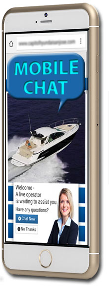 Mobile chat helps increase boat sales